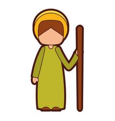 Saint joseph manger character vector