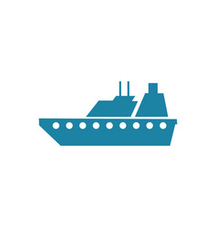 Sea ship logo vector