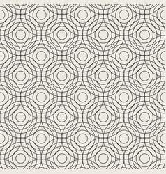 seamless circle linear pattern geometric weave vector image