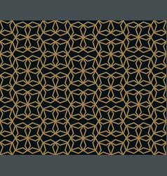 seamless pattern with line ornament abstract vector image