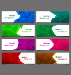 Set of abstract modern style banners vector image