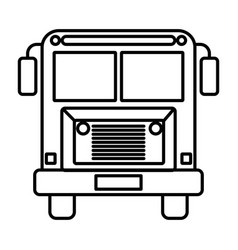 sketch silhouette image front view school bus with vector image