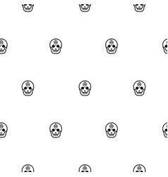 Skull small elegant seamless pattern vector