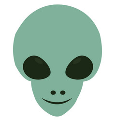 smilling alien on white background vector image