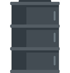 storage oil barrel icon flat isolated vector image