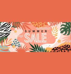 summer sale banner poster card vector image