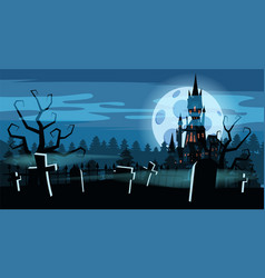 template halloween holiday graveyard black vector image