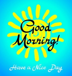 The winking sun Have a nice day card vector