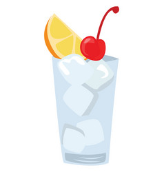 Tom collins cocktail on white background vector