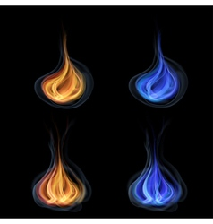 Tongues of flame vector image