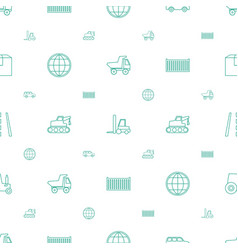 Transport icons pattern seamless white background vector