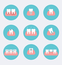 Types of dental clinic services Stomatology and vector image