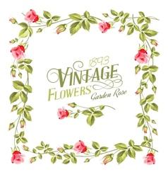 Vintage flower frame vector