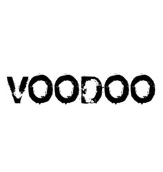 Voodoo stamp label vector