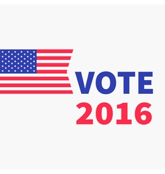 Voting concept President election day 2016 vector image
