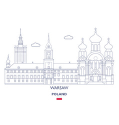 warsaw city skyline vector image