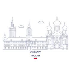 Warsaw city skyline vector