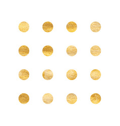 Watercolor golden round smear on white background vector