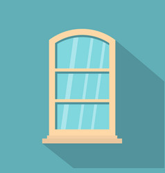 White narrow window icon flat style vector