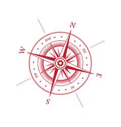 wind rose symbol vector image