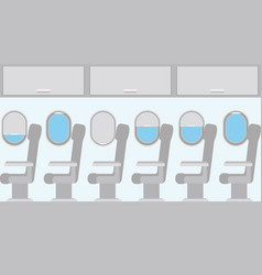 Windows airplane with chairs vector
