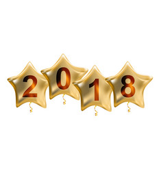 2018 new year colour glossy helium balloons vector image