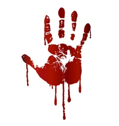 Bloody hand print vector