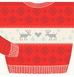 Christmas ornamental sweater - ugly party sweater vector