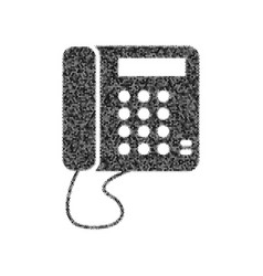 communication or phone sign black icon vector image vector image