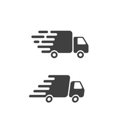 delivery truck icon flat symbol fast shipping vector image vector image