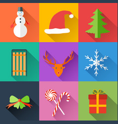 festive holidays collection vector image