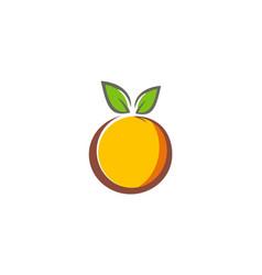 fruit organic fresh logo vector image