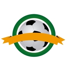 Isolated soccer emblem vector image