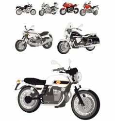 italian motorcycles vector image vector image