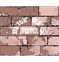 old brick wall retro vector image vector image