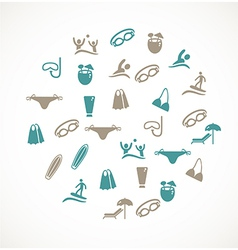Swimming icons vector image vector image