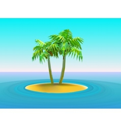 two palm trees vector image vector image