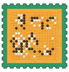 Go game stamp vector image vector image