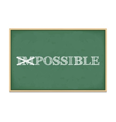 It is Possible vector image vector image
