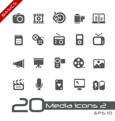 Multimedia Basics Series vector image vector image