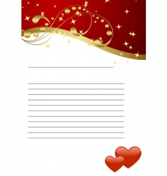 valentines template vector image vector image