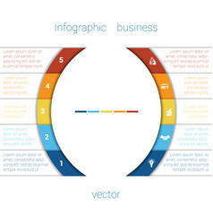 infographic strips and semicircle 5 vector image vector image