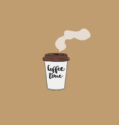 Take away cup of coffee hand draw vector