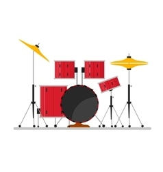 Cartoon Color Drum Kit or Set vector image vector image