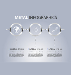 metal info graphic on blue-white gradient vector image