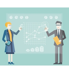 Modern management and business process vector image vector image