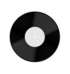 Old vinyl record isolated on white background vector image