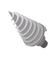 Rotating drill cartoon icon vector image vector image