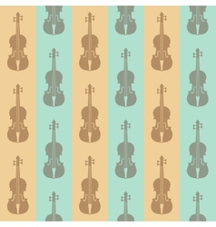 seamless vintage background with violins vector image
