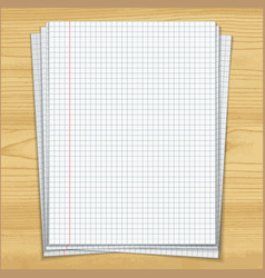 sells notebook papers on wood table background vector image